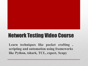 Network testing Video Course